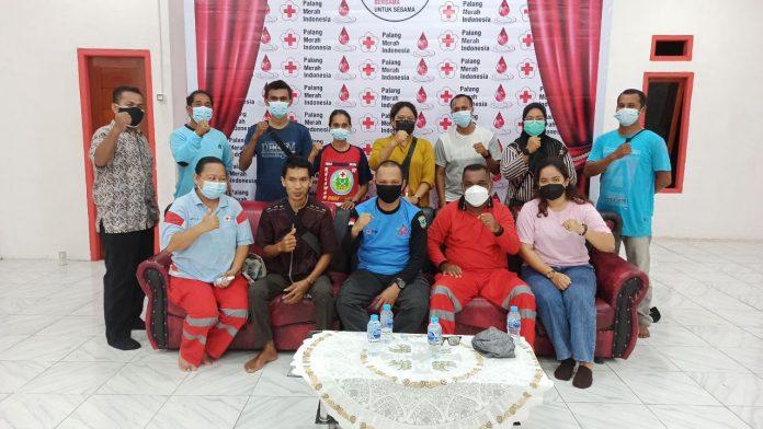 pmi papua barat sorong relawan profesional